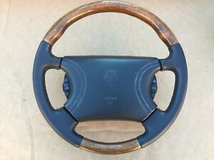 Details about 1998 2002 Jaguar XK8 XKR BLACK Leather / Wood Steering wheel  with AirBag