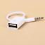 3-5-mm-Klinke-male-AUX-Audio-Stecker-auf-USB-Buchse-Adapter-Kabel-Auto-Musik-KFZ Indexbild 1