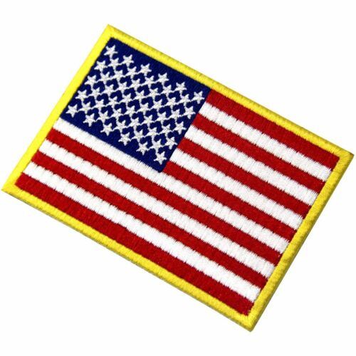 Embroidery Iron On patches badges transfers US Flag American Nation Country 050R