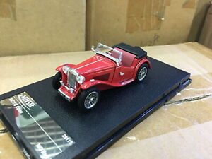 VITESSE-1-43-MGTC-Open-MG-Red-DIECAST-MODEL-CAR-29115