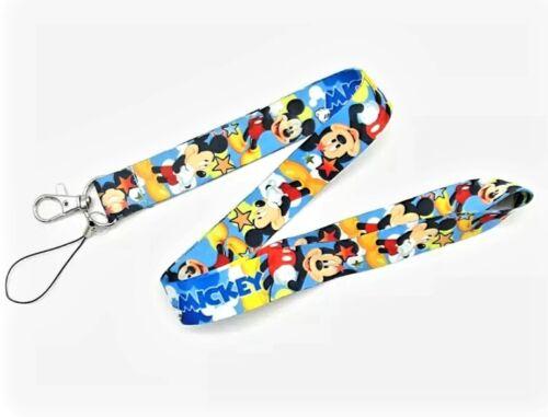 Mickey Mouse Minnie Disney Cartoon Nhs ID Card Holder Keys Neck Strap Lanyard UK