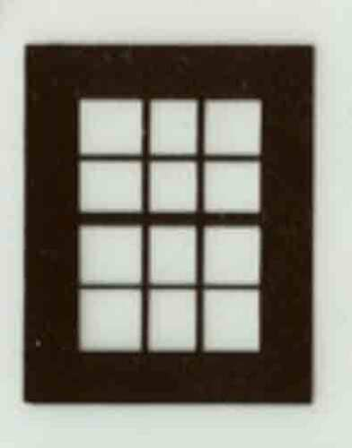 FACTORY//GRAIN ELEVATOR CLOSED WINDOW BROWN FLYERVILLE MINI-CRAFT AMERICAN FLYER