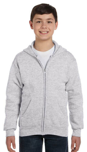 Hanes Boys New Comfort Pouch Pockets Long Sleeve Full Zip Winter Hoodie P480
