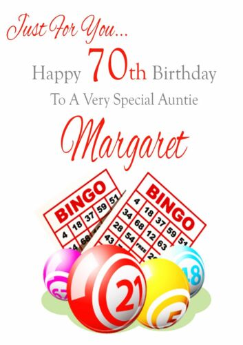 MUM NANA ETC. FREEPOST 50 60 70 GRAN BINGO BIRTHDAY CARD PERSONALISED