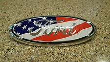 "2004-2015 FORD F150 American Flag Grille Tailgate Emblem Oval 9""X3.5"" F250 F350"
