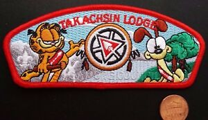 TAKACHSIN-LODGE-173-OA-SAGAMORE-COUNCIL-269-425-PATCH-GARFIELD-FLAP-RED-BORDER