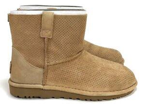 fd53c8279ff UGG Women's Classic Unlined Mini Perf Soft Leather Tawny Boot Multi ...