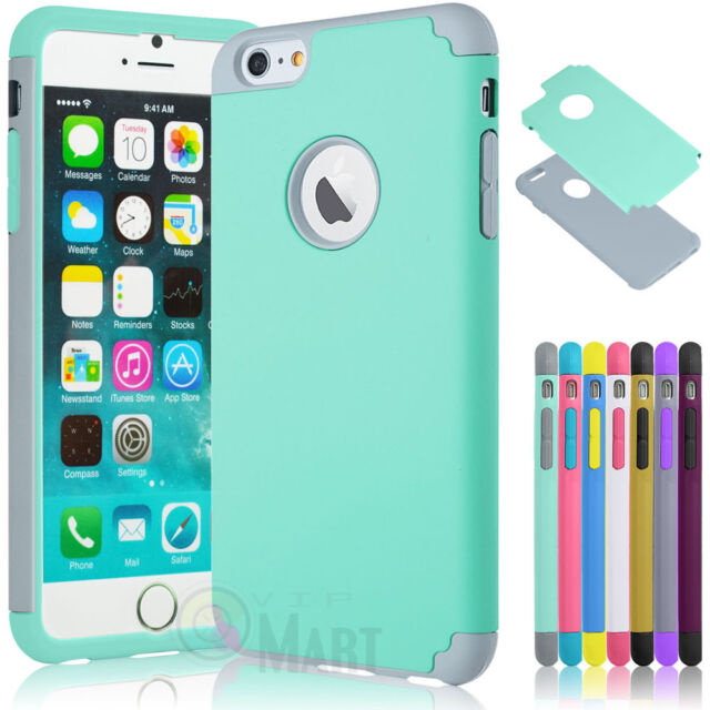 """Shockproof Rugged Hybrid Rubber Hard Cover Case for iPhone 6 4.7"""" / 6 Plus 5.5"""""""