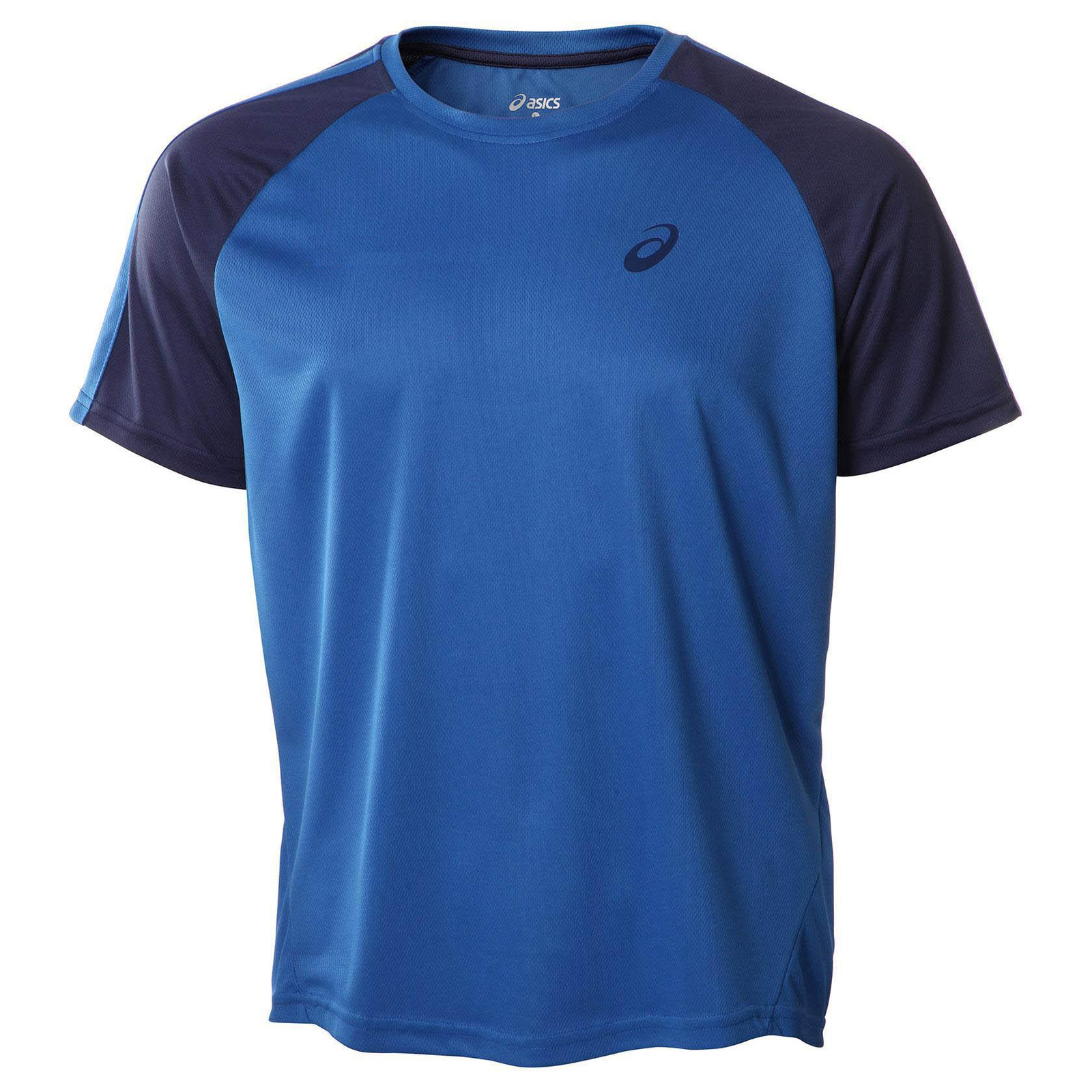 Asics Mens T-Shirt Colour Block T-Shirt - Imperial - New