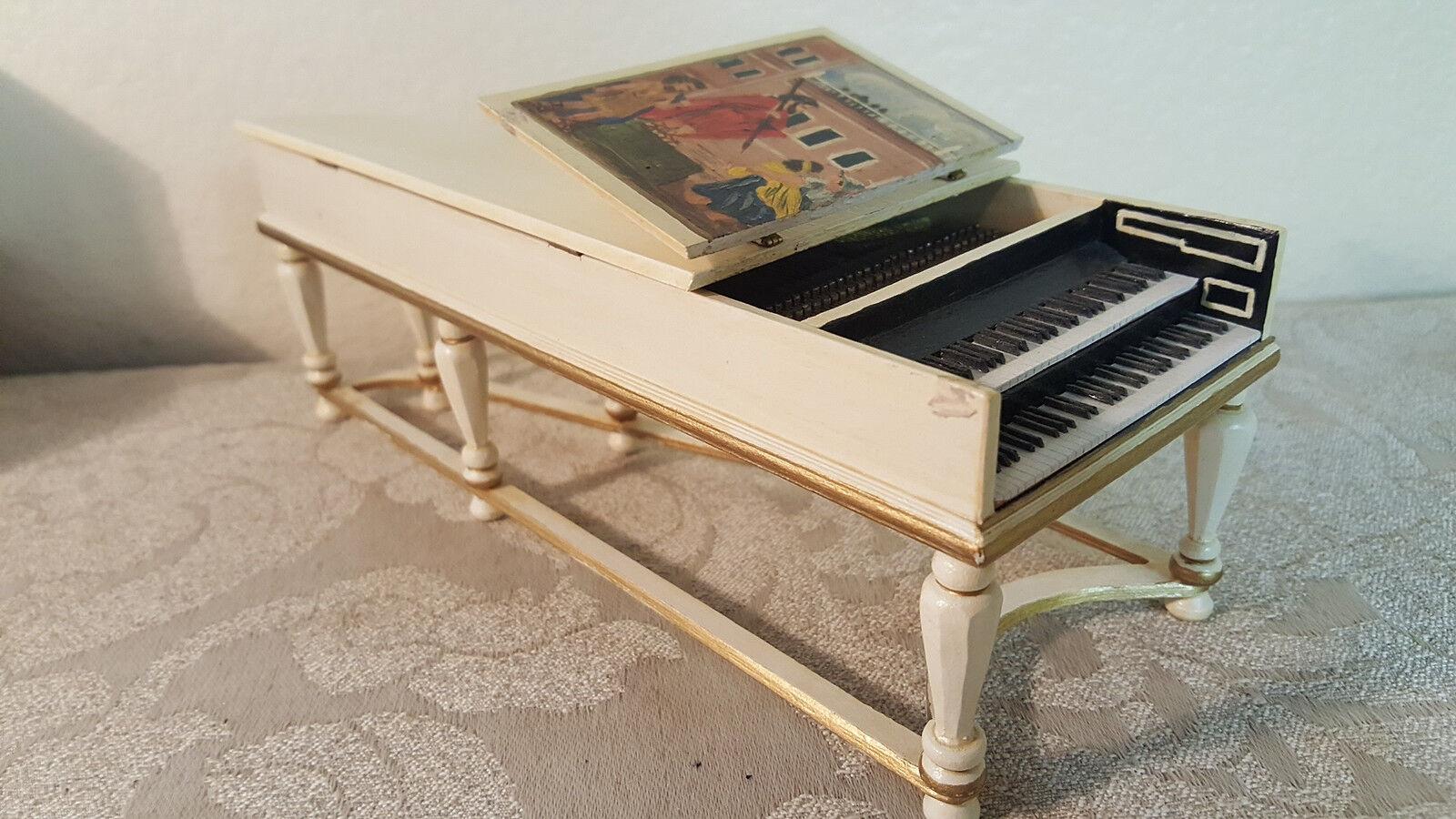 Ralph E. Partelow HH-1 1734 Harpsichord 1 of 8 doll house Größe piano