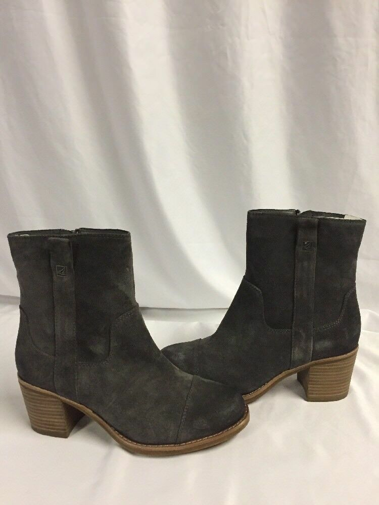 Sperry Top Sider Women Boots HELENA, Suede, Graphite, Size 6