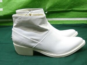 new-YRU-West-Western-White-Ankle-sexy-cowboy-Boots-SIZE-6