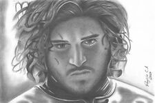 """Game Of Thrones Jon Snow 12x18"""" Stretched Canvas Art Print"""