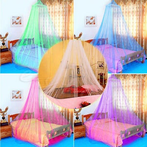 Mosquito-Lace-Bed-Netting-Mesh-Canopy-Princess-Round-Elegant-Home-Bedding-Net