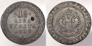 1-1 / 2 Lira 1802 Lombardo Veneto Minze Wien #418 SchöN Und Charmant