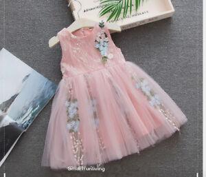 Pink Two Tones Lace Dress Luxury Lace Dress Baptism Dress Wedding Girl Dress First Birthday Girl Dress Occasion Girl Dress Masha Dres