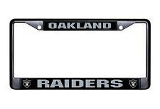 Oakland Raiders Metal BLACK License Plate Frame Auto Truck Car NFL