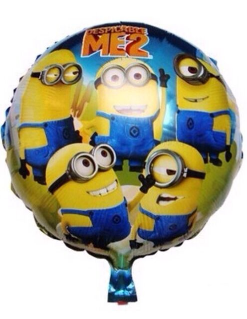 2 SUPER HERO MINIONS DISPICABLE ME 2 MOVIE BALLOONS BIRTHDAY PARTY SUPPLIES BOYS