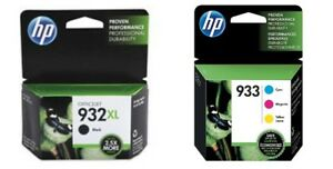 NO RETAIL BOX for OFFICEJET 6700 4-PACK HP GENUINE 932XL Black /& 933 Color Ink