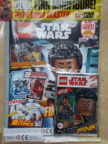 LEGO Set Jouet Cadeau Finn minifgure Comme neuf UK Edition 34 LEGO STAR WARS Magazine #34