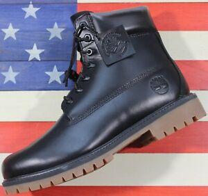 Timberland-6-034-Heritage-Premium-Boot-SAMPLE-Black-Waterproof-Leather-A22WK-Mens-9