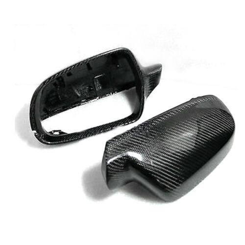 L+R Real Carbon Fiber Side Mirror Cap Housing Cover Fit For Audi A4 A5 S4 S5