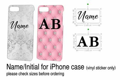 Personalised Name or Initials for Iphone Phone Case Die Cut Vinyl Sticker only