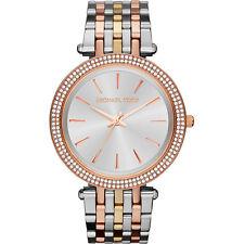 Michael Kors MK3203, Sleek Design, TRI Tone Studded Bezel Watch for Women