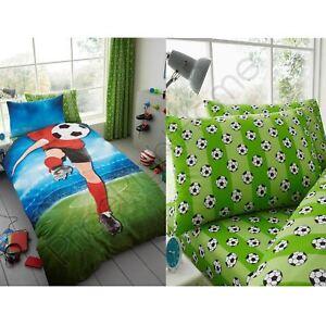 FOOTBALLER-SELFIE-KICK-BOYS-SINGLE-DUVET-COVER-SET-FITTED-SHEET-PILLOWCASES