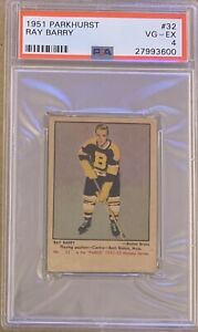 1951-1952-PARKHURST-Ray-Barry-PSA-4-Very-Good-Excellent-VG-EX-32-Boston-Bruins