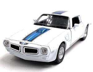 1972-Pontiac-Firebird-Trans-Am-Bianco-Modellino-Auto-Scala-1-3-4-Licenza