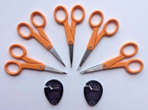 "Sewsharp Sharpener NEW Lot of 5 Fiskars ORANGE 5/"" Micro-tip Precision Scissors"