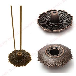 9-Holes-Lotus-Incense-Burner-Holder-Flower-Statue-Censer-Plate-For-Sticks-amp-Cone