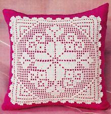 CELEBRATE LIFE BREAST CANCER Filet Crochet DOILY Pattern