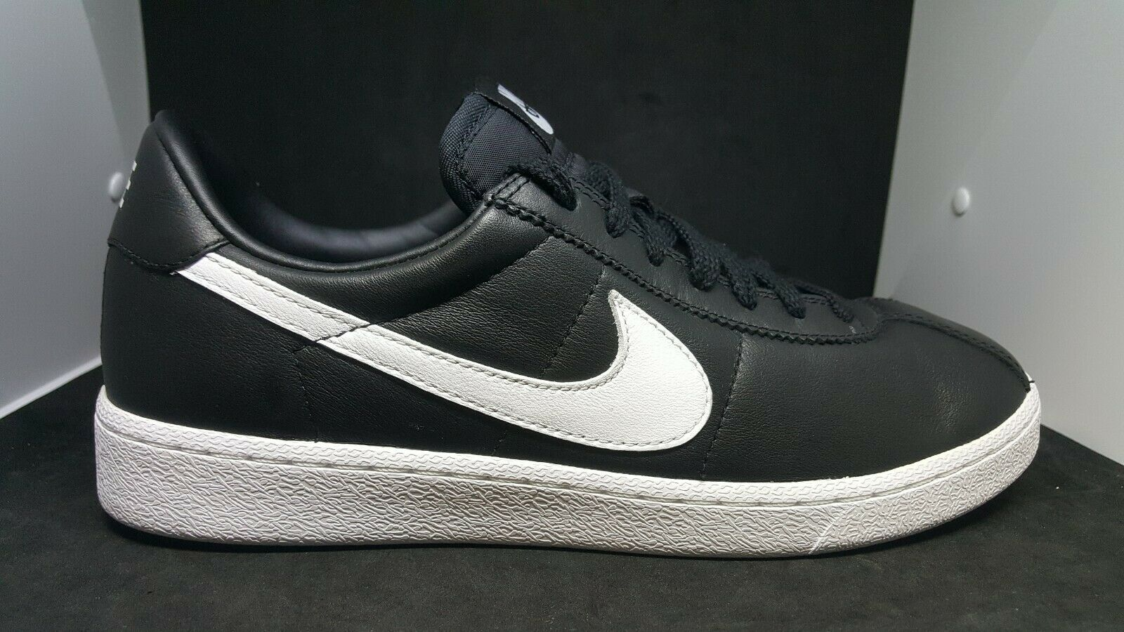 Nike Bruin QS 842956-001 Black White 70's Classic Retro Leather Mens size 10