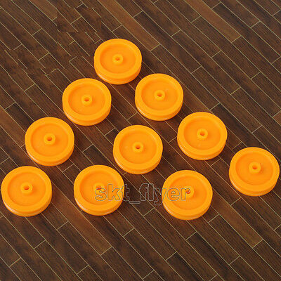 10pcs Small Orange Pulley 17*14*1.9 for DIY Toys Robot Module Car