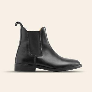 Saddle-Up-Art-1632P-01-Herren-Komfort-Zugstiefelette-mit-Lederfutter-schwarz