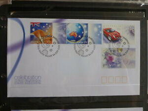 2003-AUSTRALIA-CELEBRATION-amp-NATION-SET-10-STAMPS-W-TABS-ON-2-FIRST-DAY-COVERS