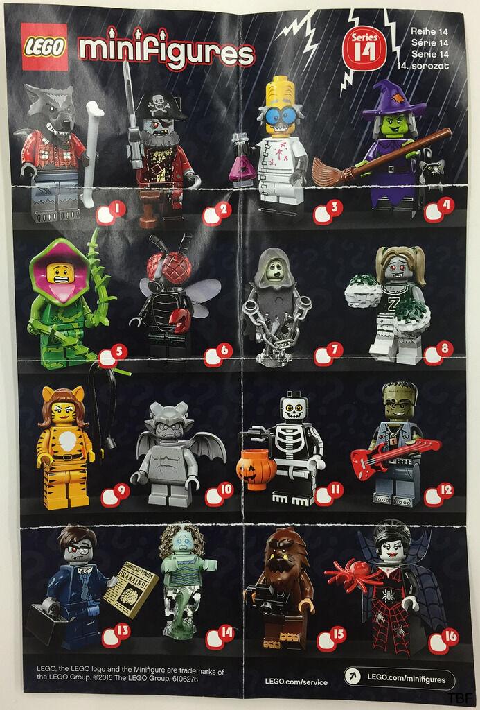 LEGO Minifigurer Serie 14 Fullständig uppsättning 16 Re Förseglad 71010 CMF Minifigurer