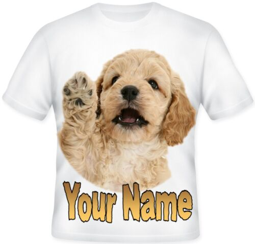 Kids Child/'s Sublimation Personalised Cockapoo Puppy T Shirt Great Gift idea