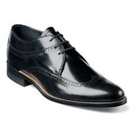 Stacy Adams Dayton Wing Tip Men's Dress Shoes Oxford Leather Lace Up 00327 Black