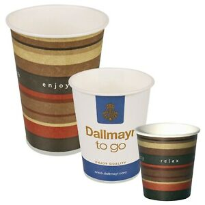 Details about 100 1000 Disposable Hot Drink Takeaway Paper Cups Tea Coffee 3oz 6oz 7oz 10oz
