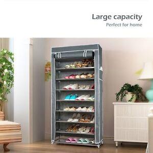 50-Pairs-10-Tiers-Portable-Steel-Stackable-Shoe-Rack-Storage-Cabinet-Organiser