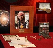 PIRATES OF THE CARIBBEAN Disney PROP, Blu DVD JOHNNY DEPP Signed DISNEY COA UACC