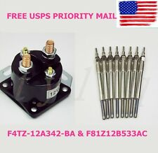 NEW 7.3L Ford Powerstroke Turbo Diesel 94-03 Dual Coil Glow Plug Set & Relay USA