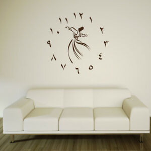 Details Zu Wandtattoo Uhr Arabische Zahlen Ohne Uhrwerk A1511