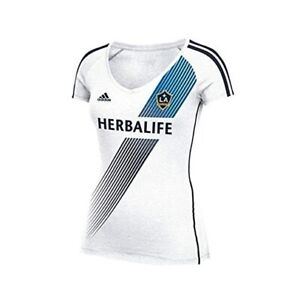 best website 5ecaf c7244 Details about Adidas Los Angeles LA Galaxy womens 2014 4862W T Shirt Jersey  MLS M New NWT