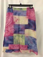 Vertigo Multi Color 100% Rayon Skirt Made In France Size Us 4 $142.00