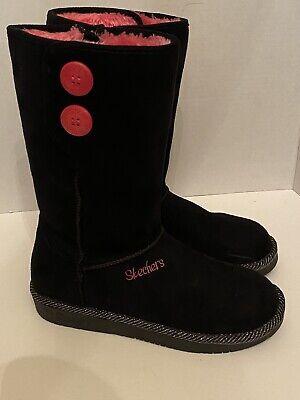 Sociedad Nos vemos Reunión  Skechers Toasty Toes Girls Boots Size 4 Black Pink | eBay