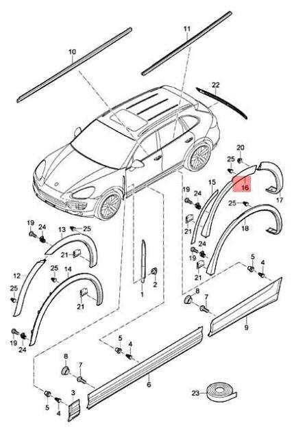 Genuine Porsche Cayenne 92a Wheel Cover Left Primed 95855982750g2x For Sale Online Ebay